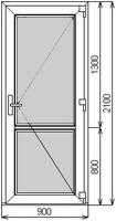 Размер двери 2100 мм х 900 мм сендвич/сендвич