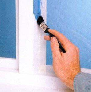 покрасить вокруг окна