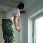 заделка трещин в потолке
